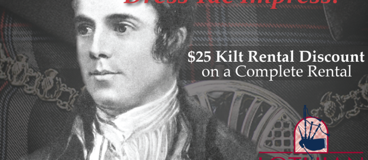2014 Burns Supper Kilt Rental Special
